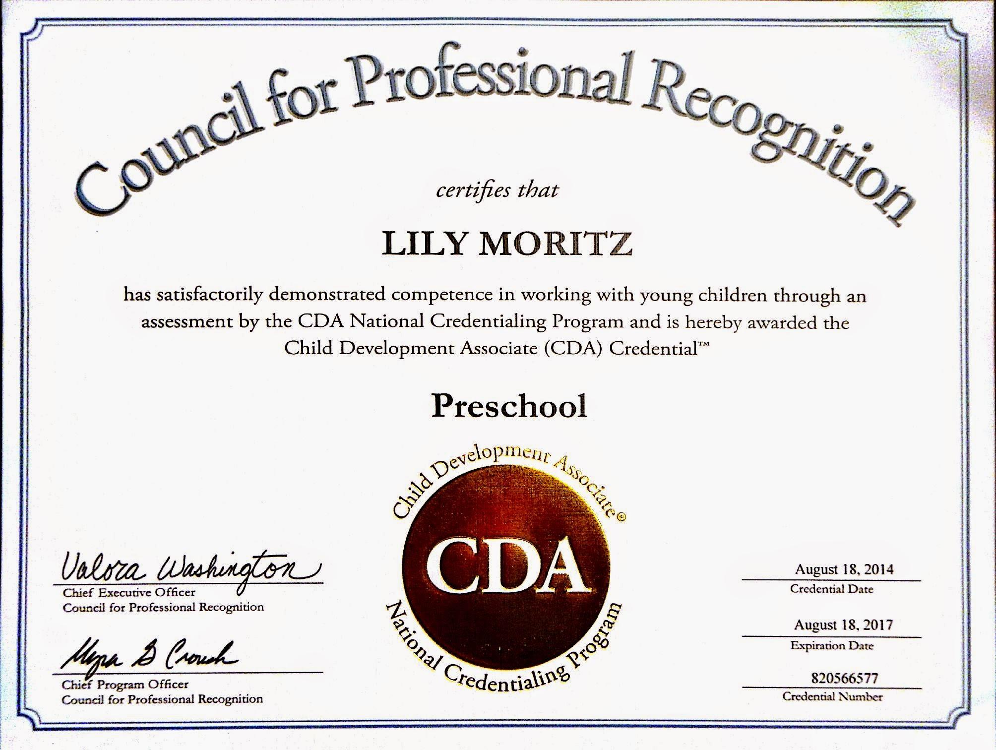 Cda Certificate1 Sugar And Spice Reinvented