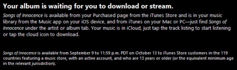 iTunes paid for some 500 million iTunes Store users to have a free gift in their cloud this week.